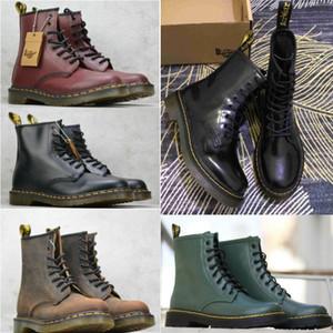 Martins Botas zapatos de cuero negro completa Martens 1460 Nappa clásico de cuero suave Martin botas de los hombres y de las mujeres botas jHlX #