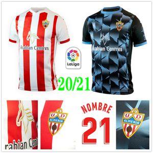 2020 2021 Union Deportiva Almería Soccer Jersey 14 GUTI NOMBRE Sekou MUNOZ CHEMA LAZO GASPAR PETROVIC personalizada 20 21 Adulto Crianças Football Shirt
