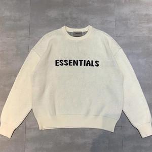 O Pics real Dark Gray Beige Melhor impressão de tamanho grande grossa camisola Hip Hop Rib malha crewneck Raglan pulôver alta Streetwear Qualidade