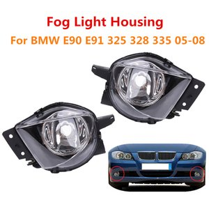 Esquerda Frontal Direito Bumper DRL Fog Car Light Fog Lamp Assembly Para E90 E91 328i 328xi 325i 325xi 330i 330xi 2005 2006 2007 2008