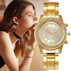 Zegarek Damski Мода Женские часы кварцевые часы сплава Стальной браслет Алмазный набор Простые наручные часы Ladise Женский