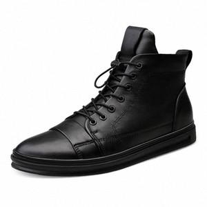 Youki homme Bottes d'hiver en peluche laine fourrure Homme botte en cuir véritable Chaussures Hommes Big Taille 1mn1 #