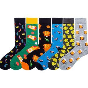 La primavera y el alimento para animales de dibujos animados de Navidad calcetines calcetines otoño impresas geométricas unisex de la fruta de la manera ocasional calcetines T500182