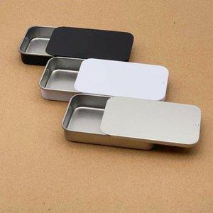 por atacado caixa de prata lisa de cor cursor superior, estanho, caso doces caixa usb retângulo Container frete grátis GWB1836