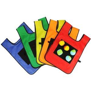 Creativa Dodgeball adhesivas de bolas Chaleco palillo Jersey chalecos juego con 5 pelotas de gimnasio tela para deportes al aire libre Niños Kinder