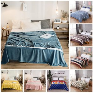 Bedcover Blanket Super Soft High Density Flannel Blanket for Sofa Portable Bed