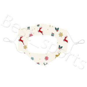 Noel Sağır noel toz geçirmez Ağız maskeleri Yıkanabilir kulak askısı Yüz Nefes Maske YYA465 60pcs ayarlanması şeffaf Yüz maskeleri Maske mute