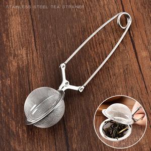 Tè dell'acciaio inossidabile Infuser creativo della maglia della sfera colino da tè e caffè filtro Maniglia tè della sfera diffusore vagli di cucina Strumenti VT1611