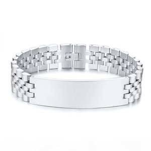 custom fashionable silver color charm bracelets bangle for men stainless steel jewelry