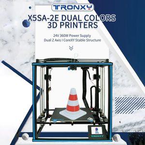Tronxy X5SA-2E 3D-Drucker-Ultra-Ruhiger Mainboard 330 * 330 * 400mm 3,5-Zoll-Farb-Touchscreen 10m Glühfaden Unterstützung Dual Color Print