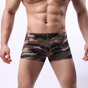 Men Boxer Underwear Shorts Breathable Quick Dry Boxer Gay Underwear Camouflage U Penis Pouch Men Panties Homme Boxershorts