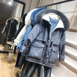 Frauen-Winter Parkas Fest Farbe Frauen Mantel mit Fellkragen Baumwolljacke Mantel der neuen Ankunfts-Frauen für Herbst-Winter-Casual Wear Größe S-XL -1