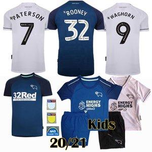2020 2021 Derby County Futebol ROONEY DOWELL PATERSON Waghorn 20 21 homens de futebol e camisa dos miúdos