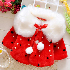 2020 Winter New Girls Thicken Warm Cloak Jacket Fashion Cute Princess Girls Jacket Furry Collar Long Sleeve Children Clothing