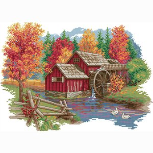 Selling cross stitch store wholesale printed patterns diy embroidery kit beginner sewing accessories for needlework home decoration