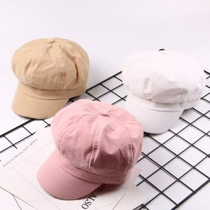 Sboy Hats Spring Summer Baseball Caps Solid Color Plain Cute Octagonal Hat Painter Cap Multicolor Wild Casual Visor Sale