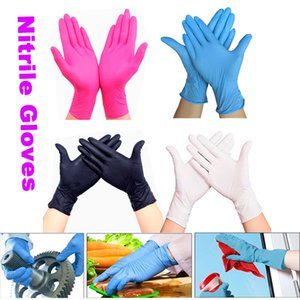 Hot White Blue Disposable Nitrile Latex for Household Cleaning Products Industrial Washing, Tattoo Gloves S,m,l
