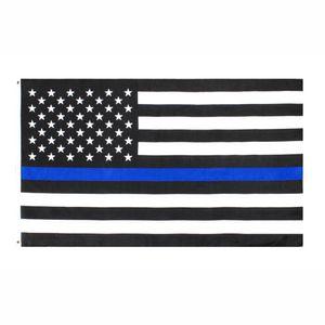 fábrica direta 3x5Fts atacado 90cmx150cm Law Enforcement Officers EUA US americano polícia fina linha azul bandeira DHB1088