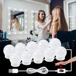 USB Led Vanity Light Hand Sweep Sensor Led Makeup Mirror Lamp PIR Wall Light Hollywood Dressing Table Lamp 2 6 10 14 Bulbs