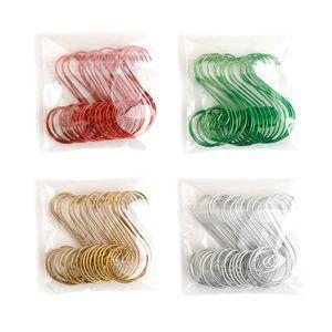 20 pcs lot Christmas Tree Decoration Hook Swirl Shape Hanger Hooks Small Hook for Christmas Tree Pendant Decor HHA927