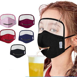 TPU göz kalkanı karşıtı rüzgar güneş toz çocuklarla İçecek ağız maskeleri maskeler yıkanabilir yeniden tam koruyucu yüz kalkanı HHC1392 karşıya