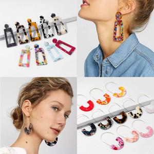 20 Tipi di Dichiarazione acrilico orecchini moda disegno semplice di stile occidentale Roccia lunghi variopinti Semicerchio goccia orecchini di alta qualità
