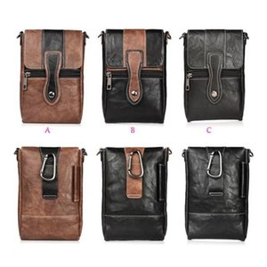 6 .3inch Vertical Hip Leather For Iphone Xr Xs Max X 8 7 Plus 6 Se Note 9 8 S8 S9 Plus Shoulder Pouch Cases Buckle Flip Pouch Belt Clip Cove