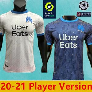 Joueur Version 2021 Olympique de Marseille Maillot de football OM Maillot de Foot PAYET THAUVIN BENEDETTO de 2021 nouvelles chemises de joueurs Marseille