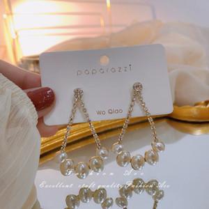 2020 Yeni 925 Gümüş Needle Drop İnci Küpe Moda Küpe Toptan Kişilik Basit Küpe Kadınlar