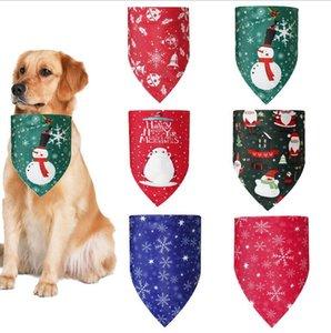 Рождество Pet шарф треугольник собака банданы Снежинка Санта-Клаус снеговика Pet Kerchief костюм аксессуары для собак Кошки Xmas Одежда