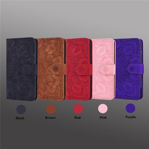 Scrub Datura Case For iPhone 11 7 8 6 6s Plus SE 2020 X XS Max XR Leather 3D Embossed Book Case