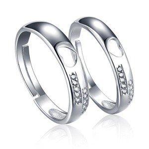 2020 Fashion New S925 Pure Silver Couple Ring Ins Simple Niche Design Adjustable Ring Wholesale