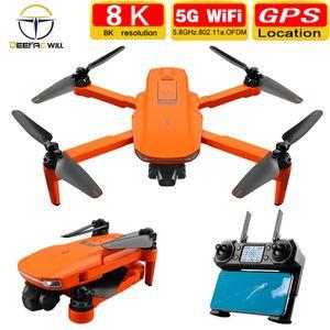 2020 Новый ICAT7 Drone 4K 8K GPS 5G Wi-Fi Два оси Гимбальная камера Бесщеточный двигатель для бесщественного питания TF Card на 25 мин.