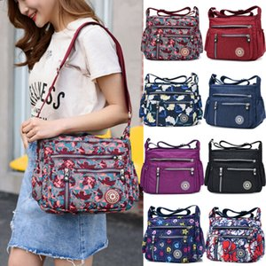 NoEnName-Null Women's Shoulder Bag Tote Handbag Crossbody Purse Waterproof Nylon Satchel lot Holiday Travel Bag