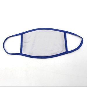 Masques vierges Thermal Transfert Face Masque Enfants Adulte Bouche Couvre Masque Masque de la Dentelle Masque anti-poussière Réutilisable Masque de guêt anti-poussière DHC1519