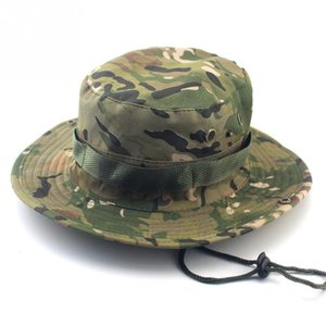 Tactical Bucket Boonie Hats Sniper Camouflage Nepalese Cap Army American Accessories Men
