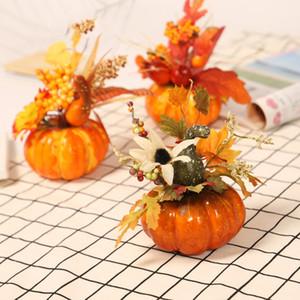 Abóbora de mesa decoração para bordo Halloween Folha decoração abóbora 3 estilos para interior Halloween decoração T3I51132