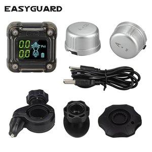 sistema di monitoraggio della pressione dei pneumatici EASYGUARD motociclo 2 wireless esterna sensore TPMS, display LCD 0-3,5 bar auto PSI