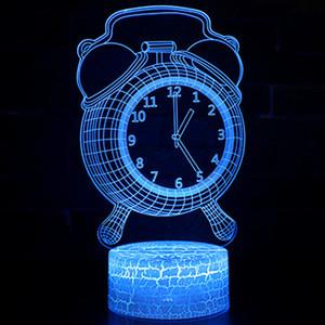 Acryl 3D-dekorative Atmosphären-Lampe USB-Fernbedienung Touch-3D-Nacht beleuchtet kreative Wecker 3D-Sicht Stereo Tischlampe