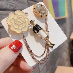 Korean Style Fashion Brosche Original-Spiel-Sets Perle Berg der Kameliendame Quaste Pin Buckle Abzeichen Corsage