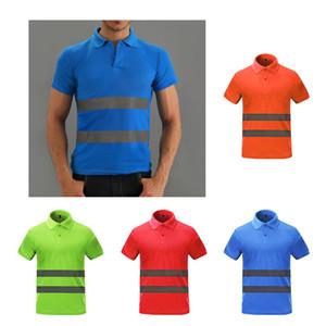 T-shirt Sécurité Vêtements de sécurité haute visibilité Été Respirant à manches courtes à manches courtes Quick Dry Shirt Fournisseur