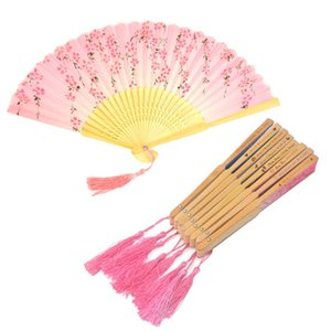 15Pcs Personalized Silk Fans With Tassel Personalized Engraved Silk Hand Fan Wedding Fold Fan Vintage Fans Customized Wedding