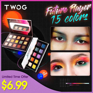 TWOG Eyeshadow Palette Of Shadows Pigment For Eyes MaGlitter Bright 15 Colors Makeup eyeshadow pallete Cosmetics