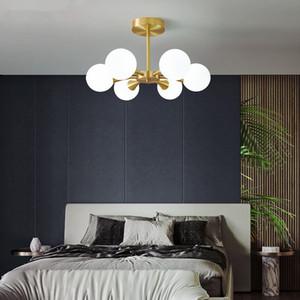 Brass Molecule Chandelier Lighting Frosted Glass 2020 New Modern Led Hanging Lamps for Living room Bedroom Lights Fixture