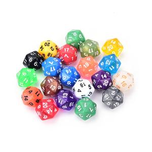 الجانب الرقمي 20 عدد 1-20 لعبة آر بي جي ملون D20 DICE مجموعة