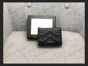 Calidad superior de los titulares de tarjetas Moda 2020 nuevos hombres de la moda carpetas de la alta calidad de titular de la tarjeta pequeña monederos con caja de entrega libre de GE