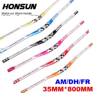 nPNGk HONSUN de 35 mm de calibre Hongsheng cross-country caliberroad alta resistencia del manillar 800 mm de largo manillar horizontal golondrinas manejar AM / DH