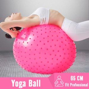 Professional 65CM Ponto mensagem ioga bola Gym Fitness Workout farpado Bola Anti-Slip gratuito bomba de ar Equilíbrio Exercício Pilatos