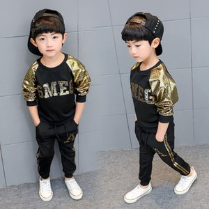 high quality Children's clothing boy suit 2020 new spring and autumn long sleeve round neck sweater + pants kids clothes