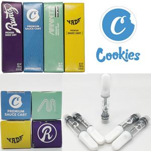 Cookies High Flyers Vape Cartridges 0.8ml 1ml thick oil atomizer 510 thread empty glass tank vaporizer 1 gram vapor packaging in stock